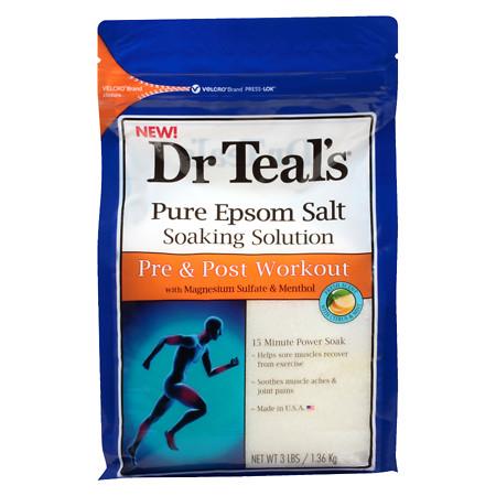 Dr. Teal's Pre & Post Workout Epsom Salt - 48 oz.