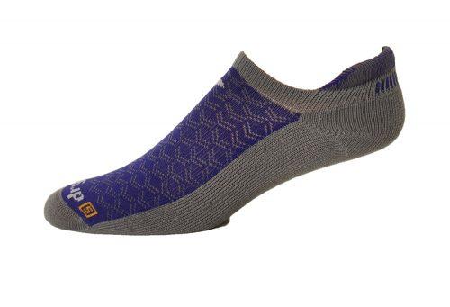 Drymax Running Lite-Mesh No Show Tab Socks - anthracite/purple, small