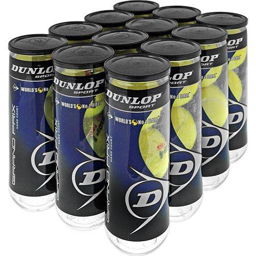 Dunlop Grand Prix Hard Court 12 Cans: Dunlop Tennis Balls