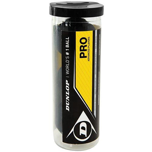 Dunlop Pro Dot 3 Ball Tube: Dunlop Squash Balls