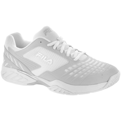 Fila Axilus Energized: Fila Women's Tennis Shoes White/Metallic Silver/White