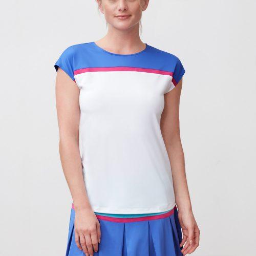 Fila Sweetspot Cap Sleeve Top: Fila Women's Tennis Apparel