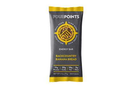 Fourpoints Backcountry Banana Bread Bar - Box of 12