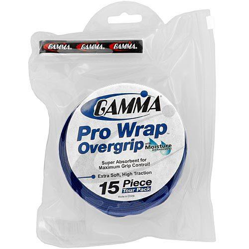 Gamma Pro Wrap Overgrip 15 Pack: Gamma Tennis Overgrips