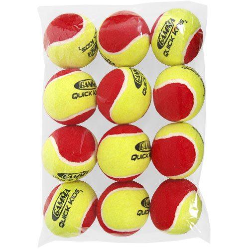 Gamma Quick Kids 36 OS Low Bounce 12 Pack: Gamma Tennis Balls