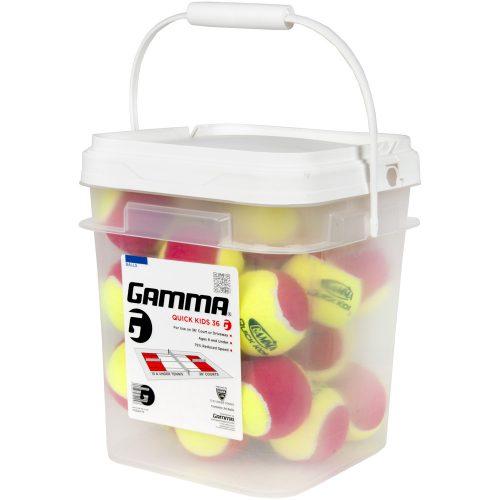 Gamma Quick Kids Felt Bucket of 24: Gamma Tennis Balls