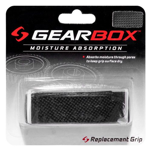 Gearbox Moisture Absorption Wrap Grip Black: Gearbox Racquetball Replacet Grips