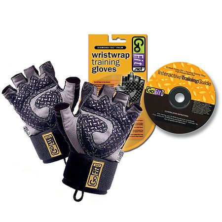 GoFit Diamond-Tac Weightlifting Glove with Wrist Wrap Black - 1 ea.