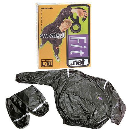 GoFit Heavy Weight Vinyl Sweatsuit with Reflecting Stripes SmallMedium - 1 ea.