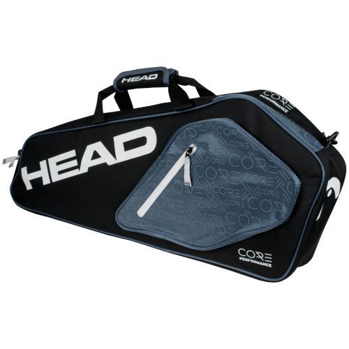 HEAD Core Pro Black/White 3 Racquet Bag 2017: HEAD Tennis Bags