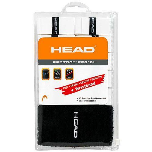HEAD Prestige Pro Overgrip 10 Pack + Wristband: HEAD Tennis Overgrips