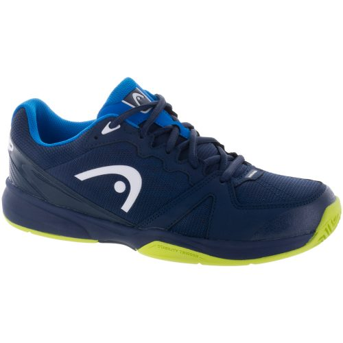 HEAD Revolt Team 2.5: HEAD Men's Tennis Shoes Black Iris/Apple Green