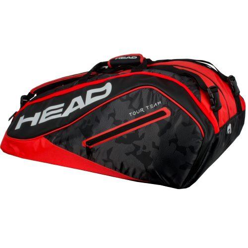 HEAD Tour Team 12 Racquet Monstercombi Bag 2018 Black/Red: HEAD Tennis Bags