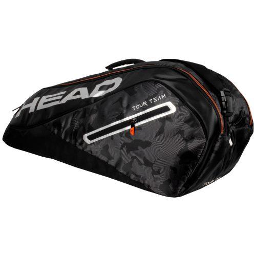 HEAD Tour Team 6 Racquet Combi Bag 2018 Black/Silver: HEAD Tennis Bags