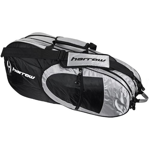 Harrow 6 Racquet Bag Black: Harrow Squash Bags
