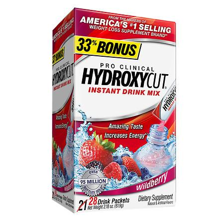 Hydroxycut Pro Clinical Weight Loss Dietary Supplement Powder Wildberry - 0.08 oz.