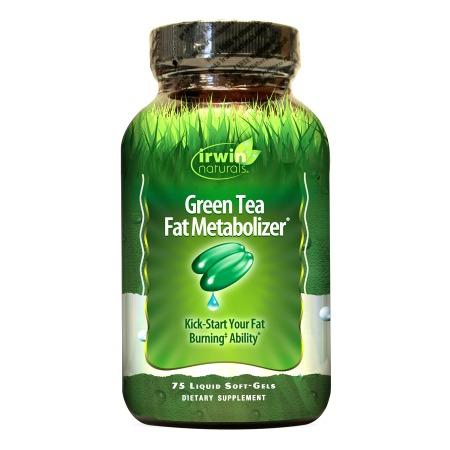 Irwin Naturals Green Tea Fat Metabolizer Dietary Supplement Liquid Softgels - 75 liquid softgels