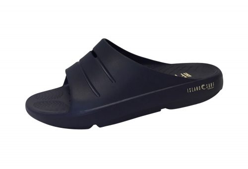 Island Surf Company Crest Slides - Men's - navy, 10