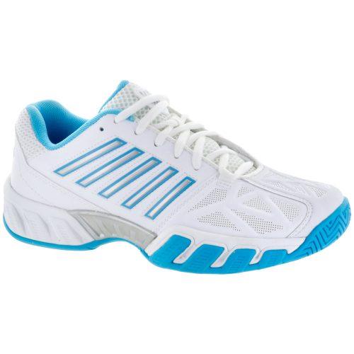 K-Swiss Bigshot Light 3: K-Swiss Women's Tennis Shoes White/Aquarius