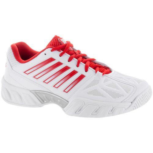 K-Swiss Bigshot Light 3: K-Swiss Women's Tennis Shoes White/Fiesta