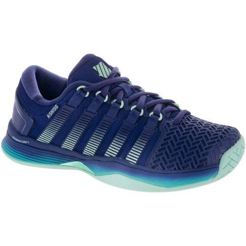 K-Swiss Hypercourt 2.0: K-Swiss Women's Tennis Shoes Blue Ribbon/Electric Green/Brook Green