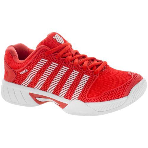 K-Swiss Hypercourt Express Junior Fiesta/White: K-Swiss Junior Tennis Shoes