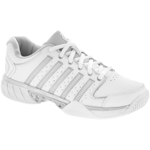 K-Swiss Hypercourt Express LTR: K-Swiss Women's Tennis Shoes White/Silver/Glacier Gray
