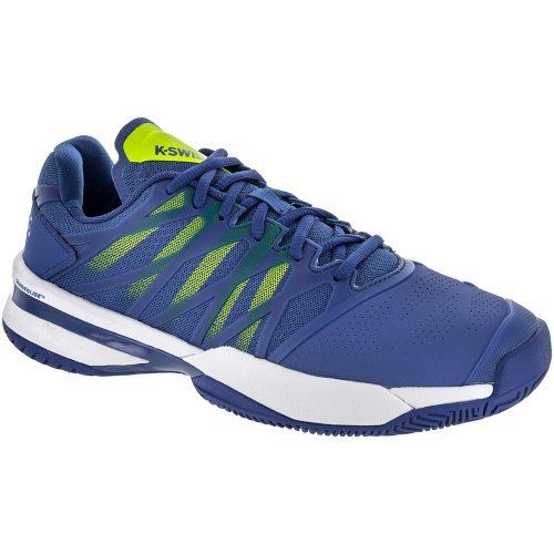K-Swiss Ultrashot: K-Swiss Men's Tennis Shoes Strong Blue/Neon Citron/White