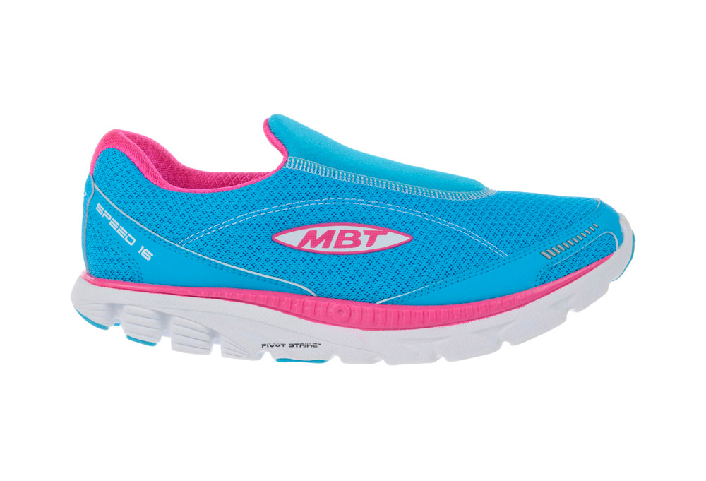 MBT Speed Slip On Shoes - Women's - powder blue/fuchsia, 6
