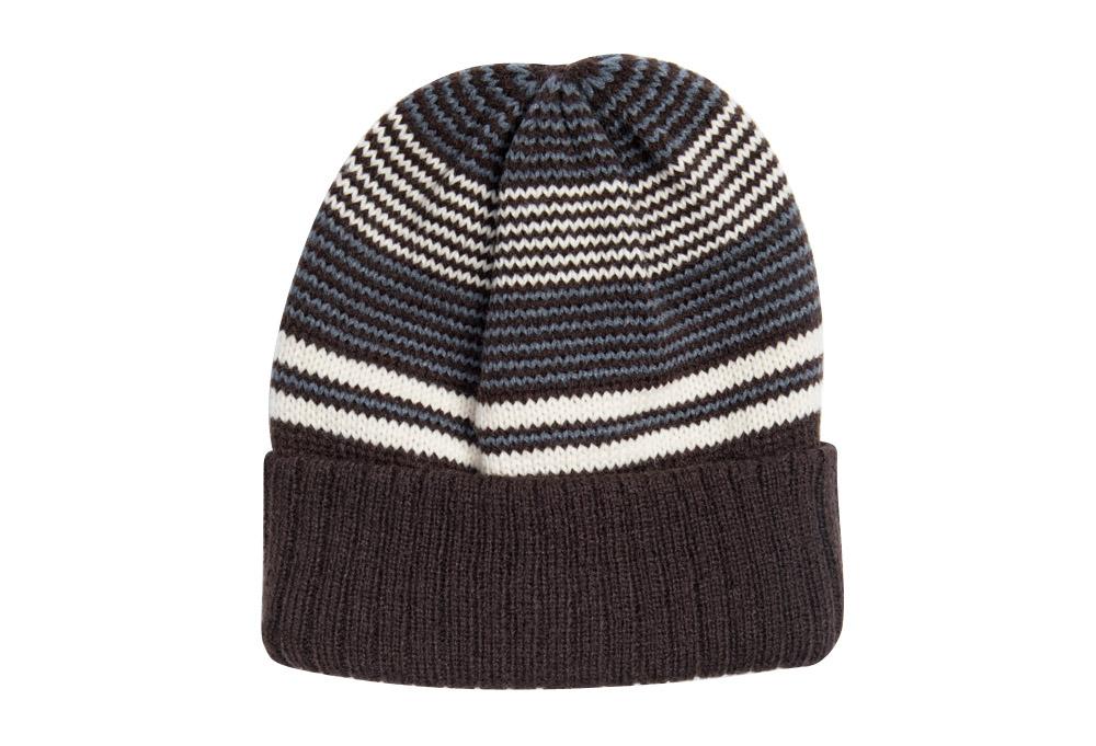 MUK LUKS Striped Cuff Cap - pewter, one size