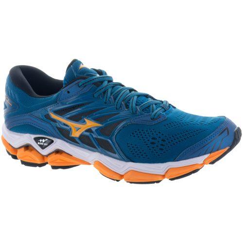 Mizuno Wave Horizon 2: Mizuno Men's Running Shoes Blue Sapphire/Bright Marigold
