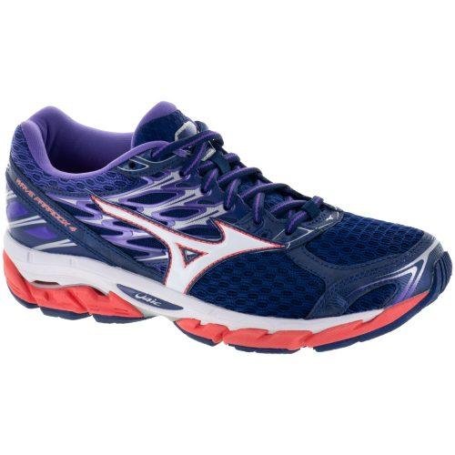 Mizuno Wave Paradox 4: Mizuno Women's Running Shoes Patriot Blue/White/Hot Coral