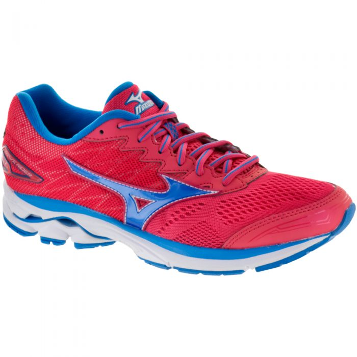 Mizuno Wave Rider 20: Mizuno Women's Running Shoes Paradise Pink/Blue Aster/White