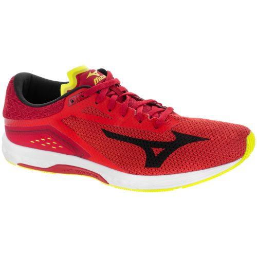 Mizuno Wave Sonic: Mizuno Men's Running Shoes Grenadine/Black/Safety Yellow
