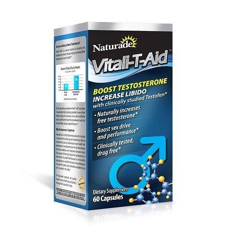 Naturade Vitali-T-Aid Testosterone Booster Dietary Supplement Capsule - 60 ea.