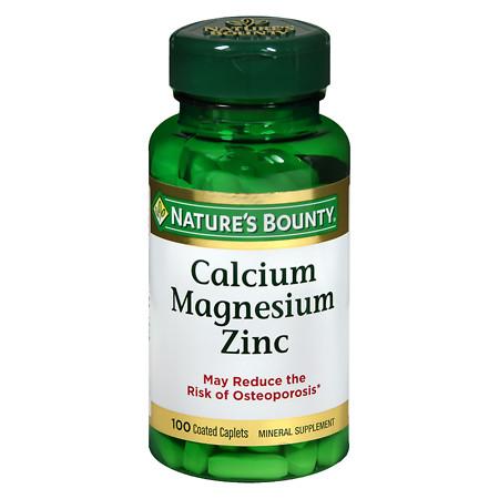 Nature's Bounty Calcium Magnesium Zinc, Tablets - 100 ea