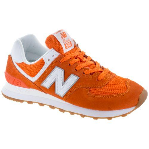New Balance 574 Core+: New Balance Women's Running Shoes Varsity Orange/White