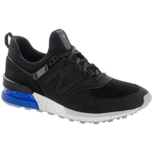 New Balance 574 Sport: New Balance Men's Running Shoes Black/Blue
