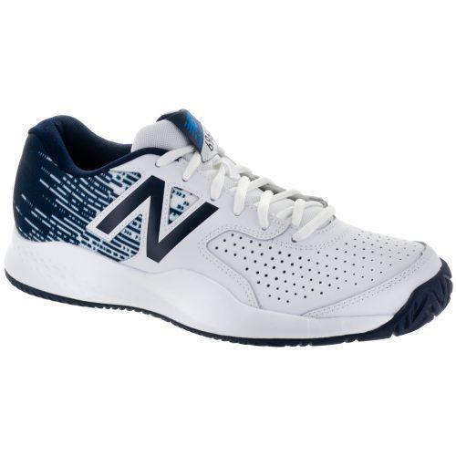 New Balance 696v3: New Balance Men's Tennis Shoes White/Blue