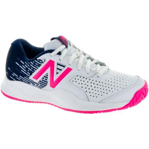 New Balance 696v3: New Balance Women's Tennis Shoes White/Alpha Pink