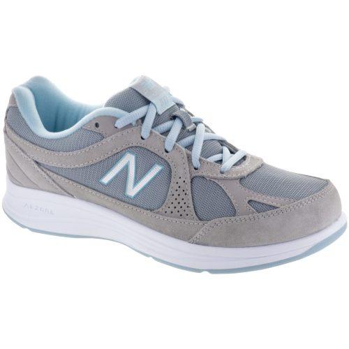 New Balance 877: New Balance Women's Walking Shoes Silver/Aqua