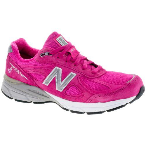 New Balance 990v4: New Balance Men's Running Shoes Pink/Silver