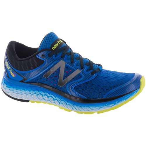 New Balance Fresh Foam 1080v7: New Balance Men's Running Shoes Electric Blue/Hi-Lite