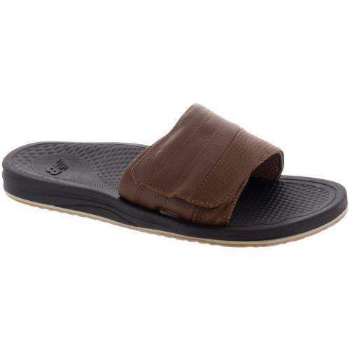 New Balance Purealign Recharge Slide: New Balance Men's Sandals & Slides Brown