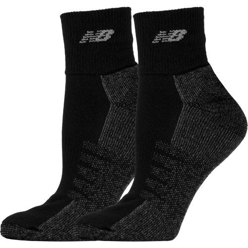 New Balance Quarter with Coolmax Black Socks 2 Pack: New Balance Socks