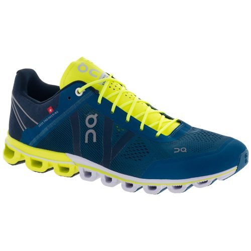 On Cloudflow: On Running Men's Running Shoes Petrol/Neon