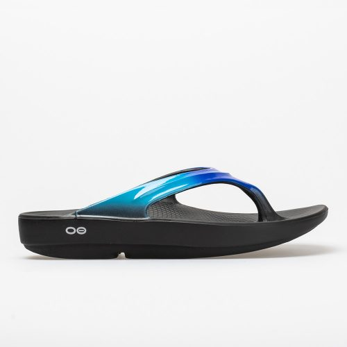 Oofos OOlala Luxe: Oofos Women's Sandals & Slides Black/Bluejay