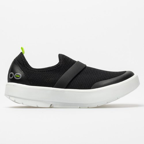 Oofos OOmg Low: Oofos Women's Walking Shoes Black/White