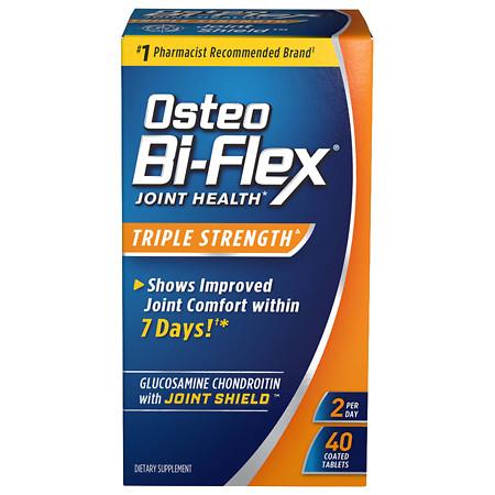 Osteo Bi-Flex Glucosamine Chondroitin plus Joint Shield Dietary Supplement Coated Caplets - 40 ea