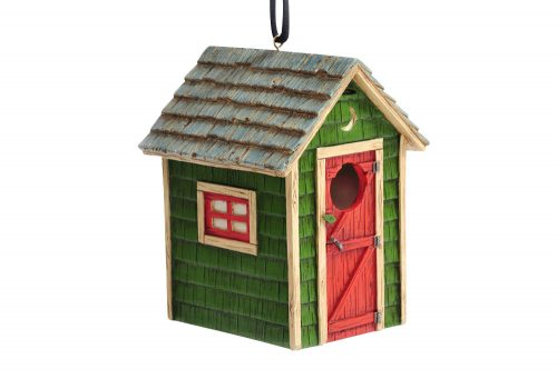 Outside Inside Outhouse Birdhouse - one color, one size